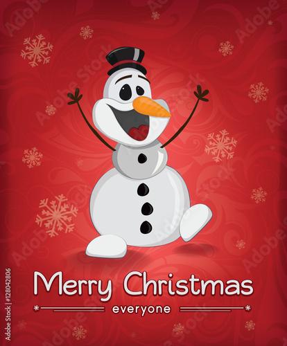 Christmas Snowman Wallpaper Mural