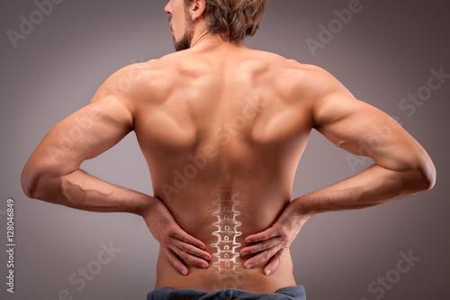Plakat Ból dolnej części pleców