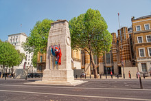Cenotaph War Memorial On Whitehall In London