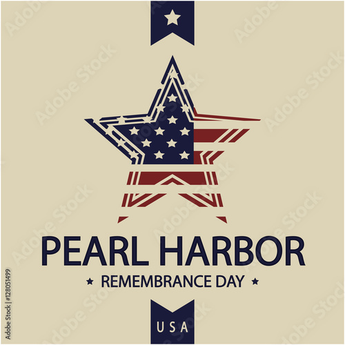 Pearl Harbor day card or background. vector illustration. Wallpaper Mural