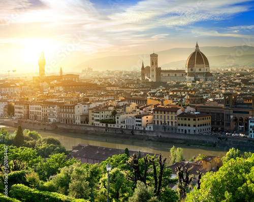 Aluminium Prints Florence View of Florence