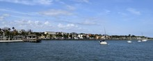 Panoramic View Of St. Augustine, Florida Riverfront