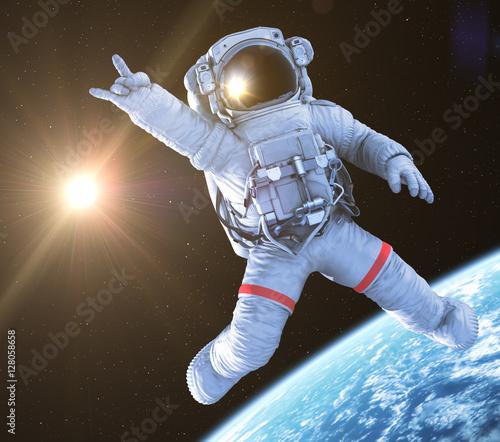 Fotografía Rocking Astronaut, 3d render