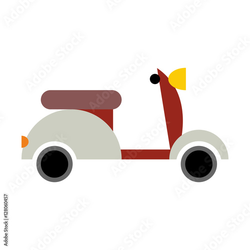 Scooter isolated. Transport icon on white background Wallpaper Mural