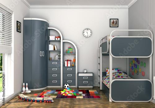 Modern children's room Poster