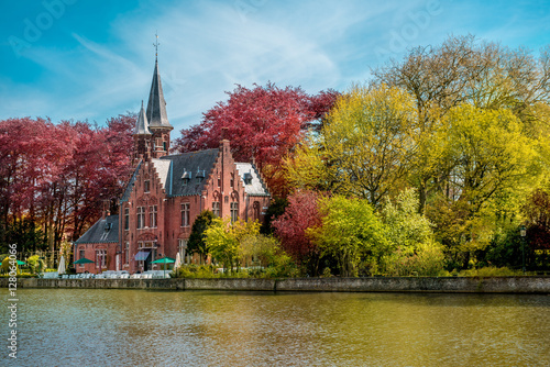 Photo sur Aluminium Bruges Minnewater castle