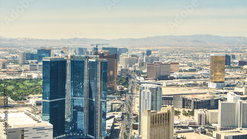 Poster de jardin Las Vegas The Strip of Las Vegas - Hotels Aereal View