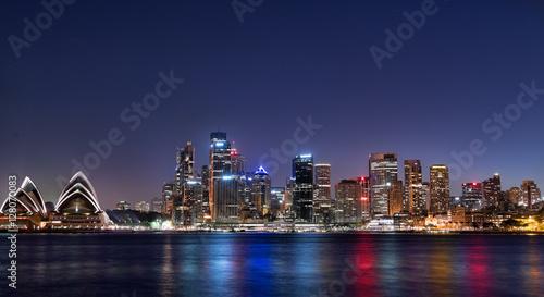 Canvas Prints Sydney Sydney Night Skyline