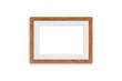 Blank photo frame mock up, light brown wooden design