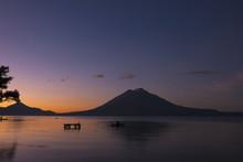 Lake Atitlan With Vulcano San ...