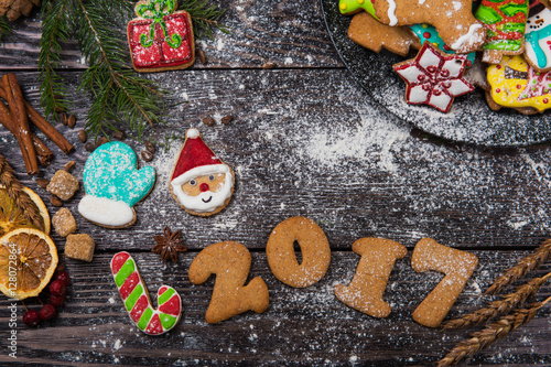 Poster Confiserie Gingerbreads for new 2017 years