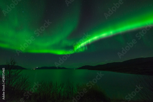 Wall Murals Northern lights Northern lights out in Altafjord