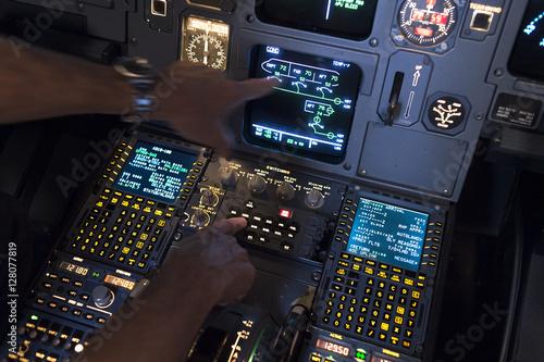 Photo airplane cockpit