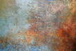 canvas print picture - Rusted metal background