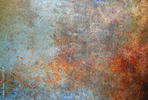 Foto op Canvas Metal Rusted metal background