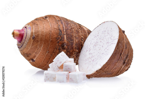 taro isolated on white background Wallpaper Mural