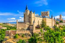 Segovia, Spain. The Alcazar Of Segovia. Castilla Y Leon.
