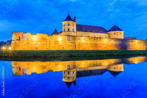 Foto  Fagaras,Transylvania,Romania. Medieval fortress.
