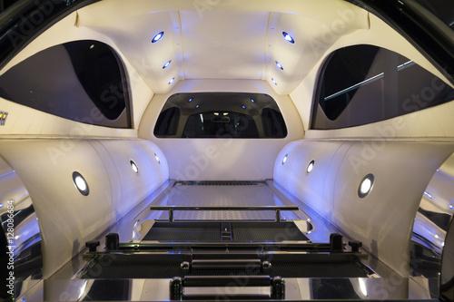 Photo  inside the hearse