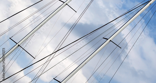 Fototapety, obrazy: Freedom concept - website banner of sailing ship mast
