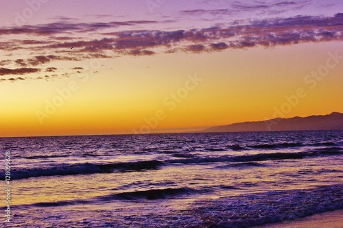 Gorgeous sunset over the Pacific Ocean Poster