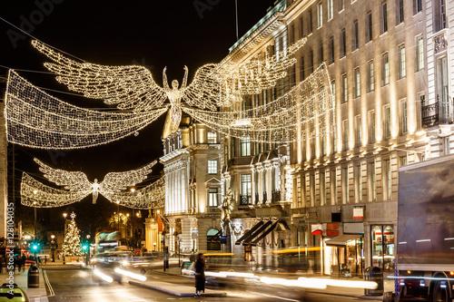 Photo  Christmas lights on Regent street in 2016 in  London