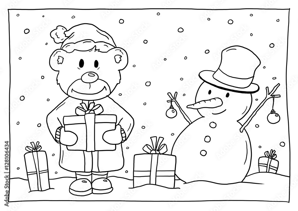 weihnachtsmotiv ausmalbild  weihnachtsmotiv