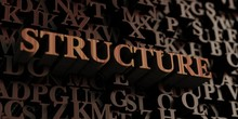 Structure - Wooden 3D Rendered Letters/message.  Can Be Used For An Online Banner Ad Or A Print Postcard.