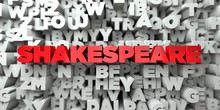 SHAKESPEARE -  Red Text On Typ...
