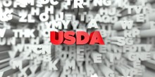 USDA -  Red Text On Typography...