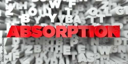 ABSORPTION -  Red text on typography background - 3D rendered royalty free stock image Canvas Print