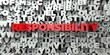 Leinwanddruck Bild - RESPONSIBILITY -  Red text on typography background - 3D rendered royalty free stock image. This image can be used for an online website banner ad or a print postcard.