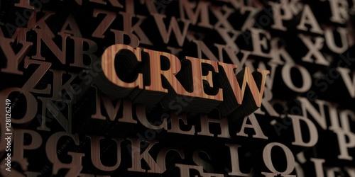 Fotografie, Obraz  Crew - Wooden 3D rendered letters/message