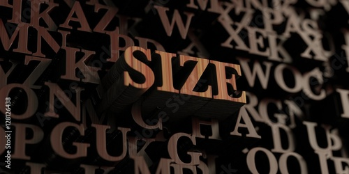 Photo  Size - Wooden 3D rendered letters/message