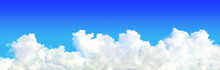 Panorama Of White Cloud On Blue Sky