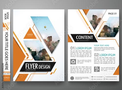 Brochure Design Template VectorSquare Layout In Cover Book - A4 brochure template