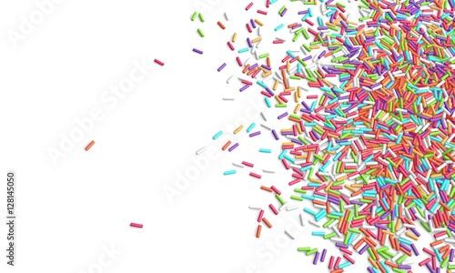 Canvas-taulu 3d rendering sprinkles white background