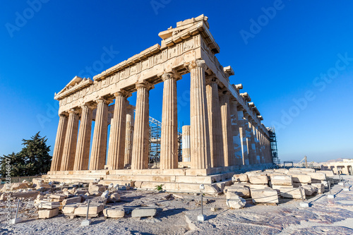 Foto op Canvas Athene Parthenon temple, Acropolis, Athens, Greece