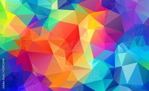 Valokuva  Abstract Geometric backgrounds full Color