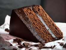 Chocolate Fudge Cake,selective Focus