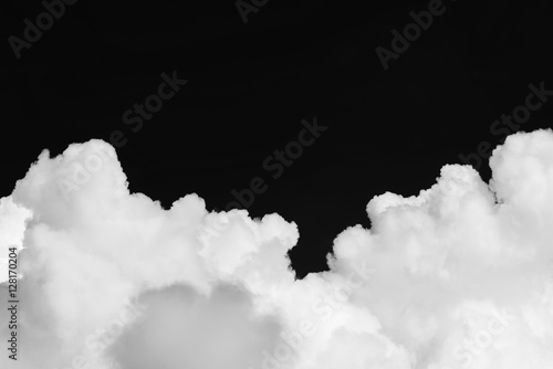 Canvas Prints Heaven Cumulus clouds isolated on black background