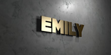 Emily - Gold Sign Mounted On G...