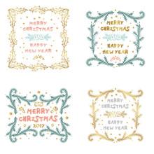 Vector Set Of Christmas And Ne...