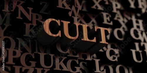 Fotografie, Obraz  Cult - Wooden 3D rendered letters/message