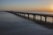 Wooden pier in Red Sea at dawn