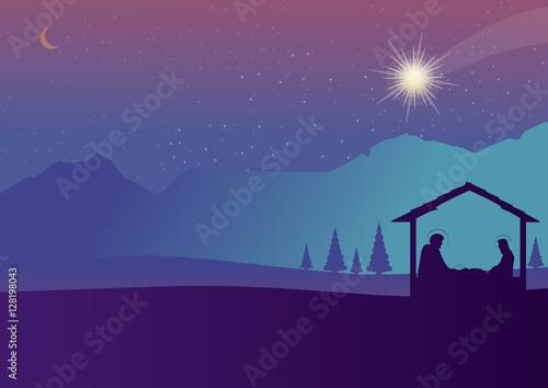 Fotografía Christmas nativity scene of baby Jesus