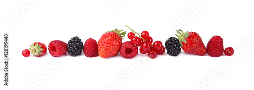 Poster Fruits Petits fruits rouges