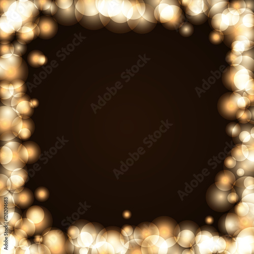gold sparkle frame abstract background light golden glittering border glitter merry christmas card