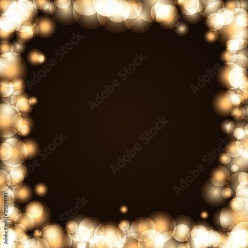 gold sparkle frame abstract background light golden glittering border glitter merry christmas card