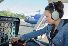 Woman Helicopter Pilot